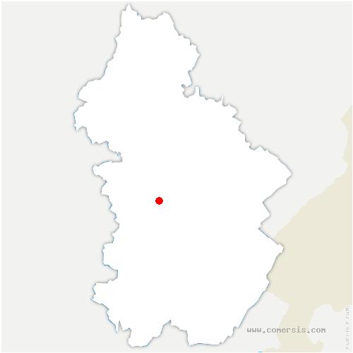 carte de localisation de Lavigny