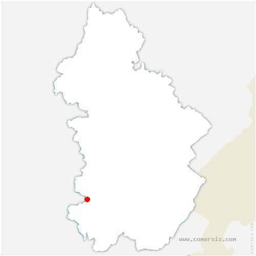 carte de localisation de Loisia
