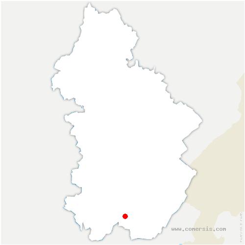 carte de localisation de Martigna