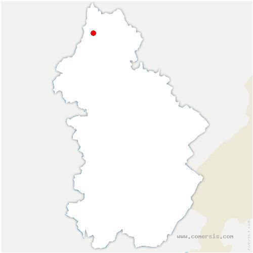 carte de localisation de Menotey