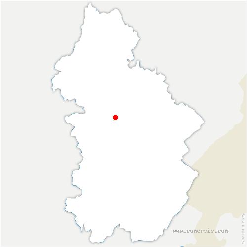 carte de localisation de Miéry