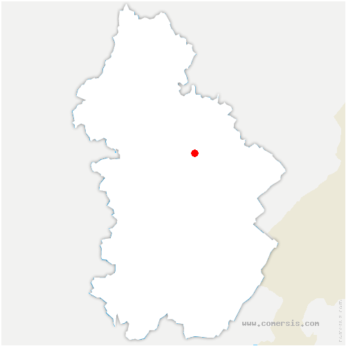 carte de localisation de Molain