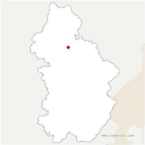 carte de localisation de Molamboz