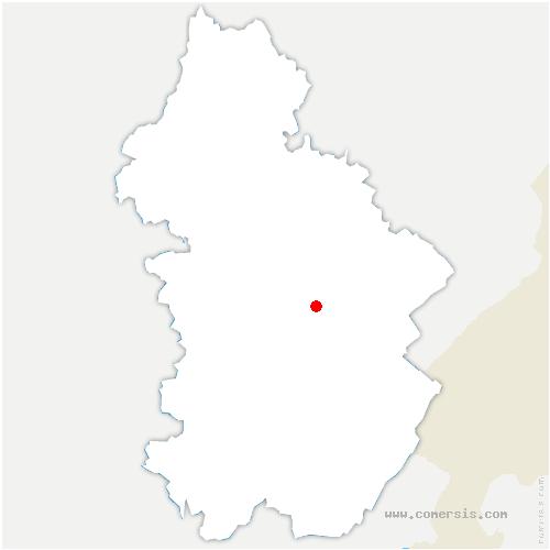 carte de localisation de Monnet-la-Ville