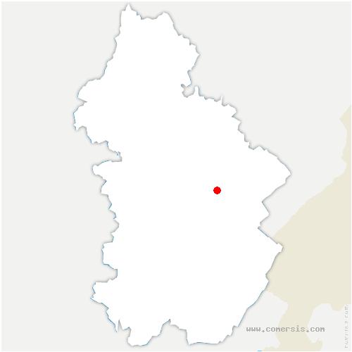 carte de localisation de Mont-sur-Monnet