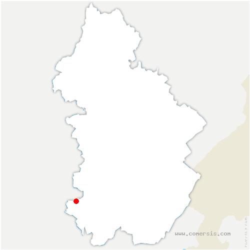 carte de localisation de Montagna-le-Reconduit