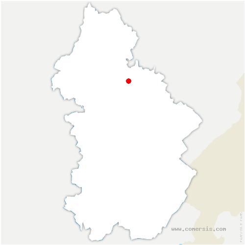 carte de localisation de Montigny-lès-Arsures