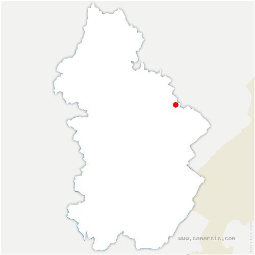 carte de localisation de Montmarlon