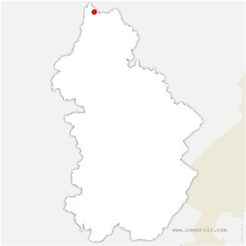 carte de localisation de Mutigney