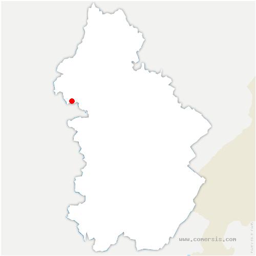carte de localisation de Neublans-Abergement