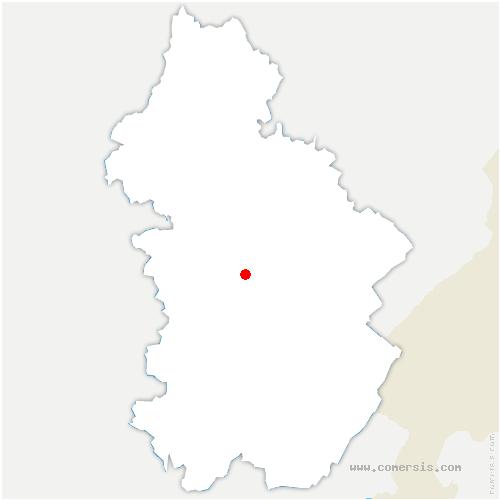 carte de localisation de Nevy-sur-Seille