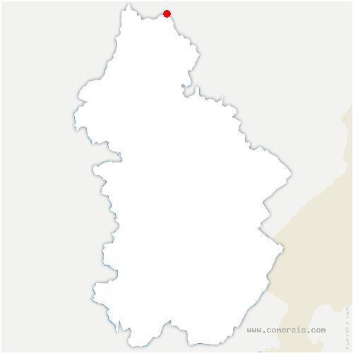 carte de localisation de Pagney