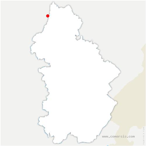 carte de localisation de Peintre