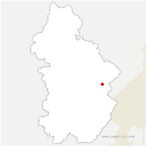 carte de localisation de Planches-en-Montagne