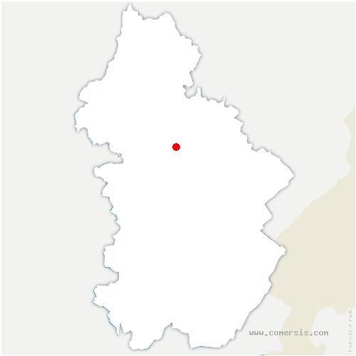 carte de localisation de Poligny