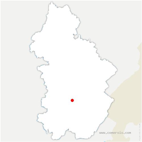 carte de localisation de Pont-de-Poitte