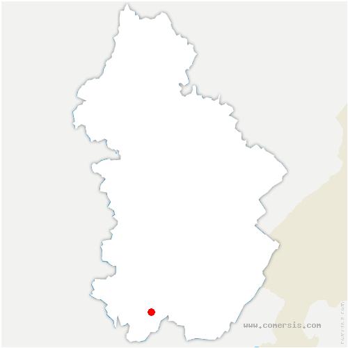 carte de localisation de Saint-Hymetière-sur-Valouse