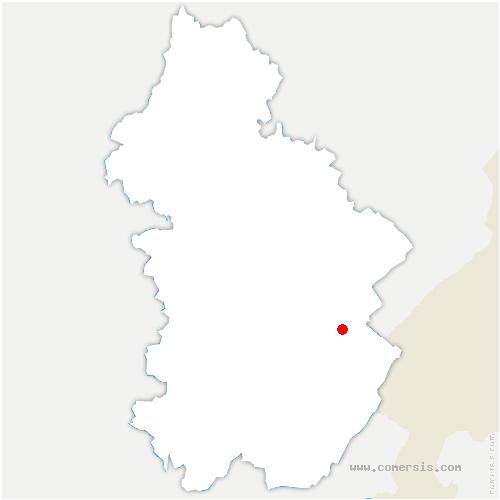 carte de localisation de Saint-Laurent-en-Grandvaux