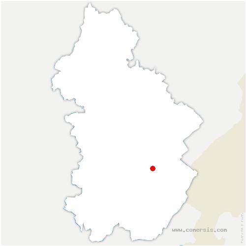 carte de localisation de Saint-Maurice-Crillat