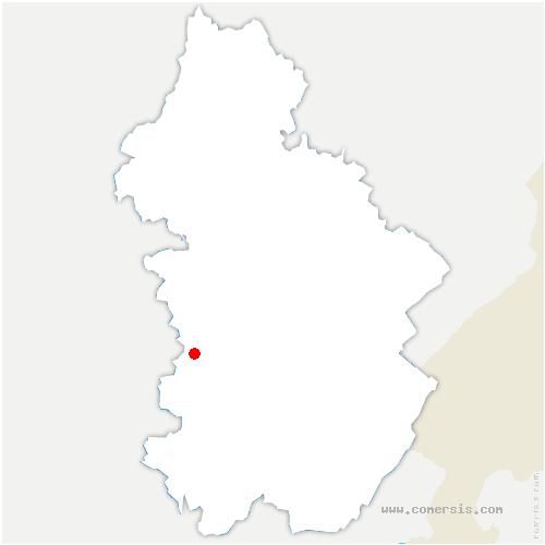 carte de localisation de Sainte-Agnès