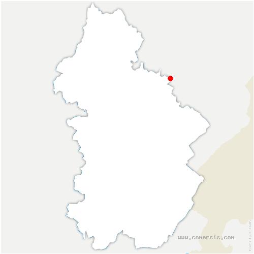 carte de localisation de Salins-les-Bains