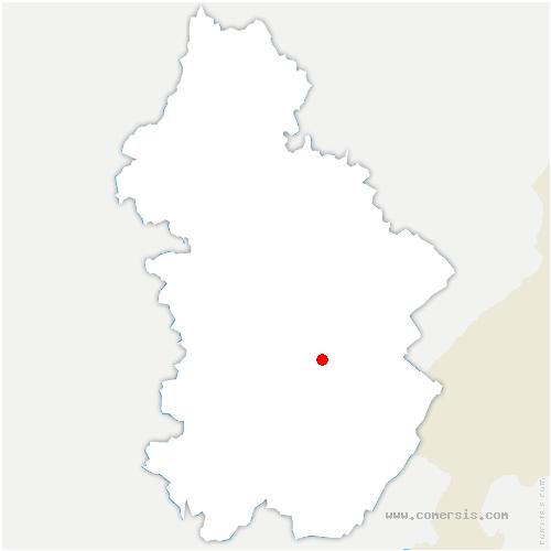 carte de localisation de Saugeot