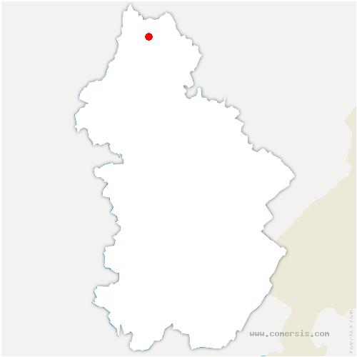 carte de localisation de Serre-les-Moulières