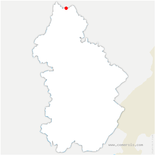 carte de localisation de Thervay