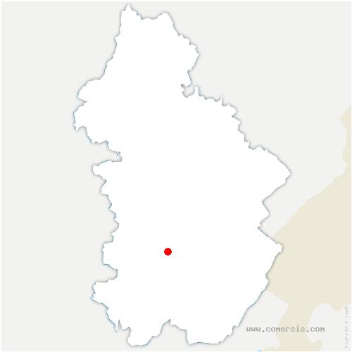 carte de localisation de Tour-du-Meix