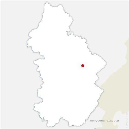 carte de localisation de Vannoz