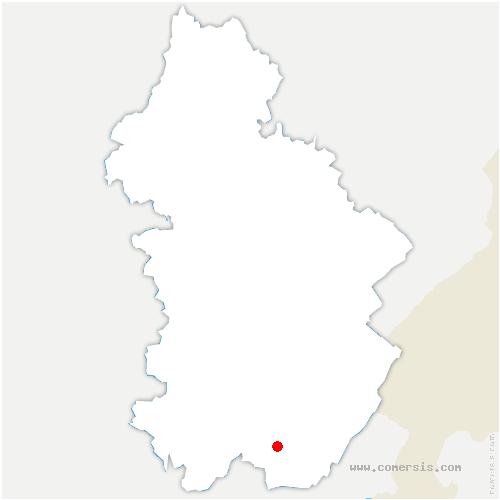 carte de localisation de Vaux-lès-Saint-Claude