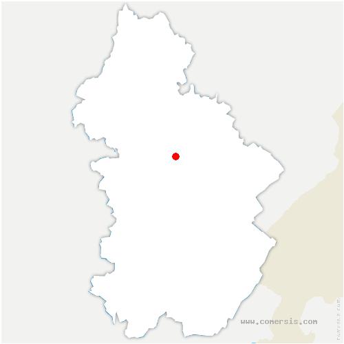 carte de localisation de Vaux-sur-Poligny