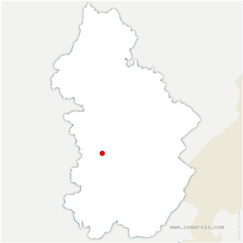 carte de localisation de Vernantois
