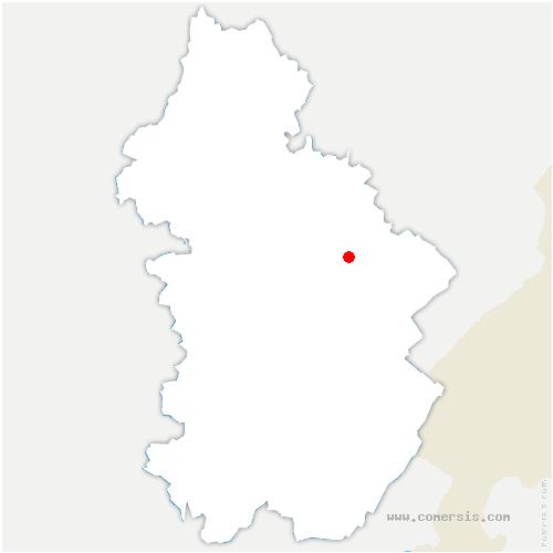 carte de localisation de Vers-en-Montagne