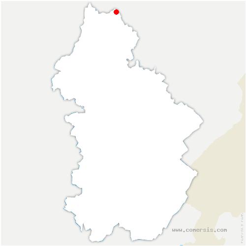 carte de localisation de Vitreux