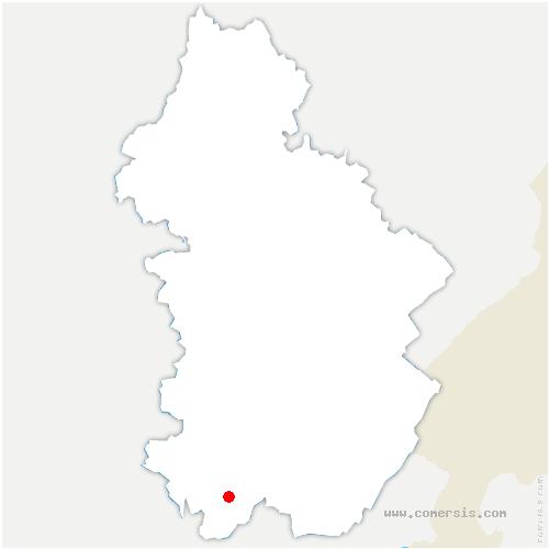 carte de localisation de Vosbles-Valfin