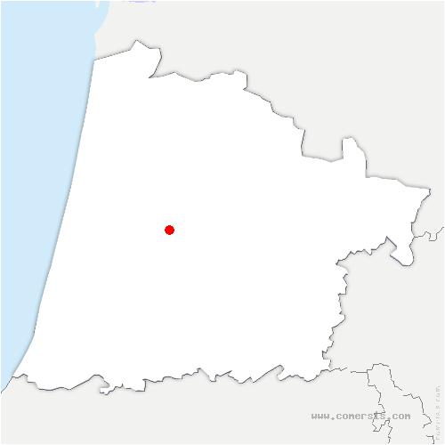 carte de localisation de Rion-des-Landes