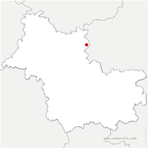 carte de localisation de Beauce-la-Romaine
