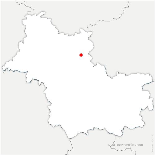 carte de localisation de Briou