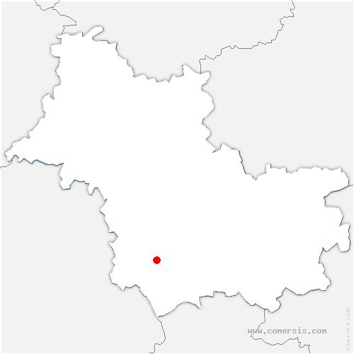 carte de localisation de Choussy