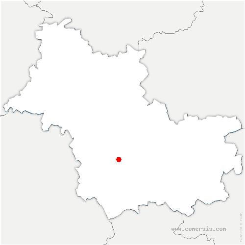 carte de localisation de Cormeray
