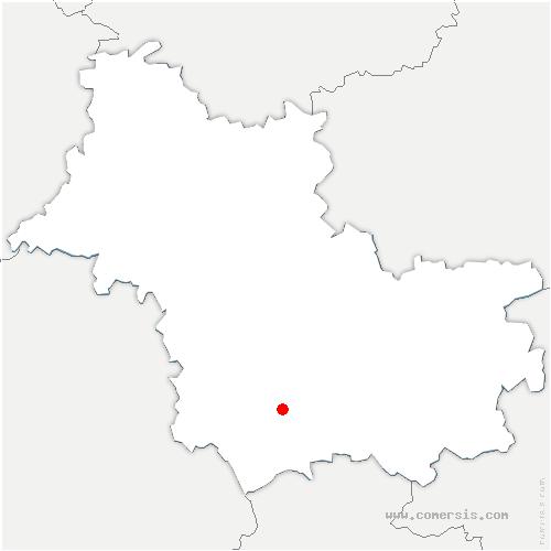 carte de localisation de Couddes