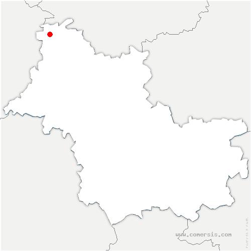 carte de localisation de Couëtron-au-Perche
