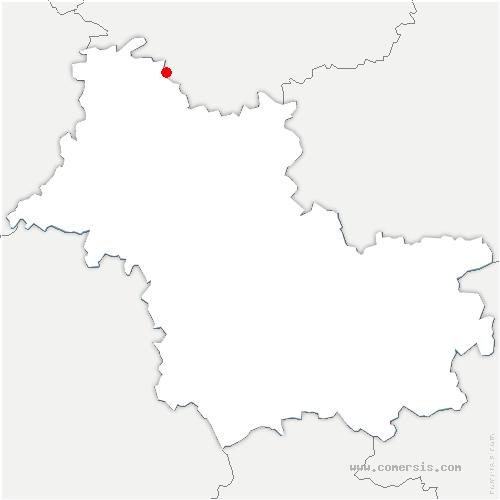 carte de localisation de Droué