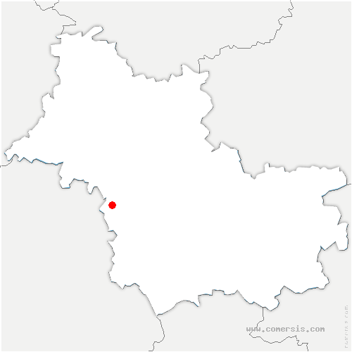 carte de localisation de Mesland