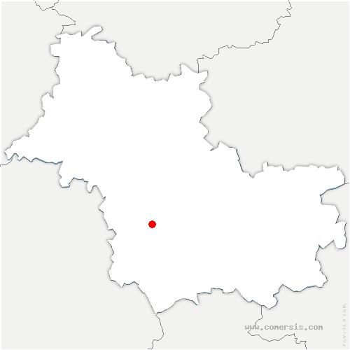 carte de localisation de Monthou-sur-Bièvre