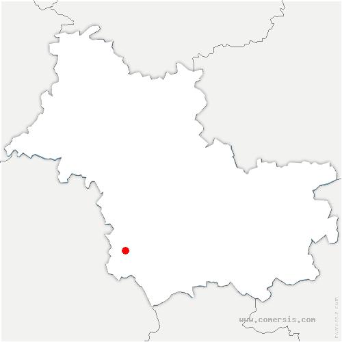 carte de localisation de Montrichard-Val-de-Cher