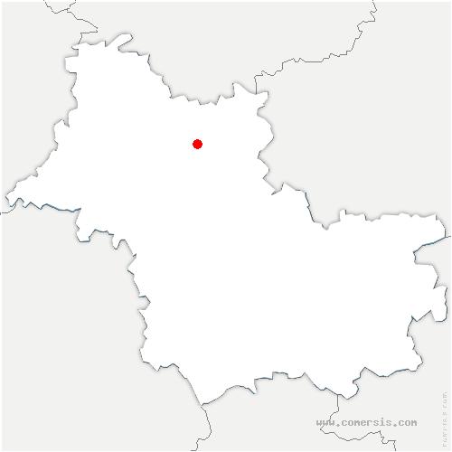 carte de localisation de Oucques la Nouvelle