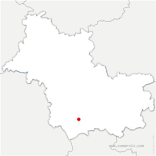 carte de localisation de Saint-Romain-sur-Cher