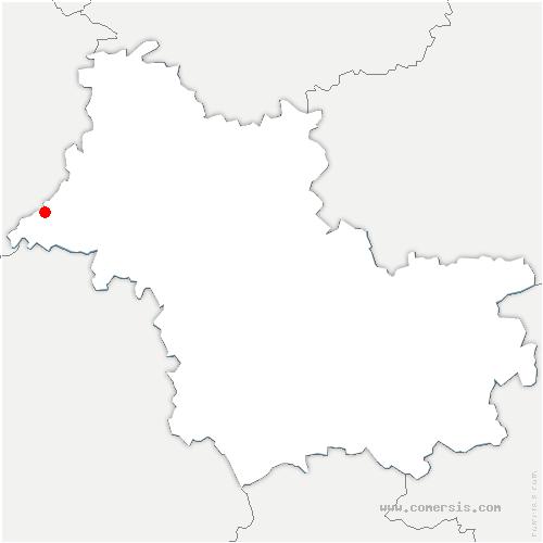 carte de localisation de Vallée-de-Ronsard
